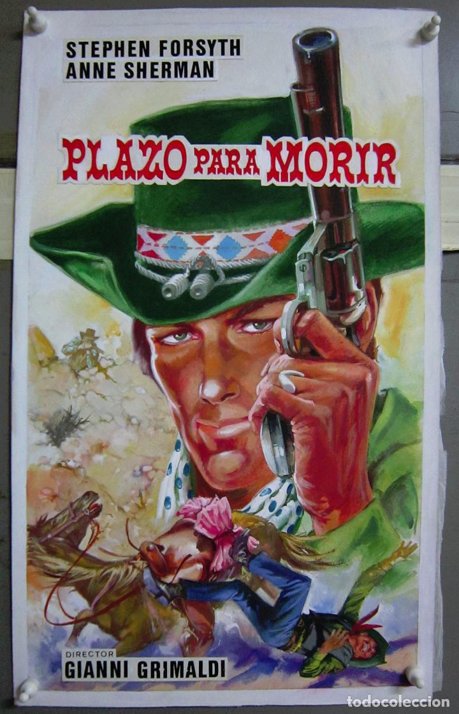 ZH04 PLAZO PARA MORIR STEPHEN FORSYTH MAQUETA DIBUJO CARTEL ORIGINAL (Cine - Posters y Carteles - Westerns)