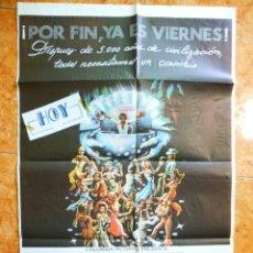 Cine: CARTEL DE CINE PELICULA POR FIN ES VIERNES DONNA SUMMER COMMODORES TAMAÑO 70 X 100 . Lote 153930458