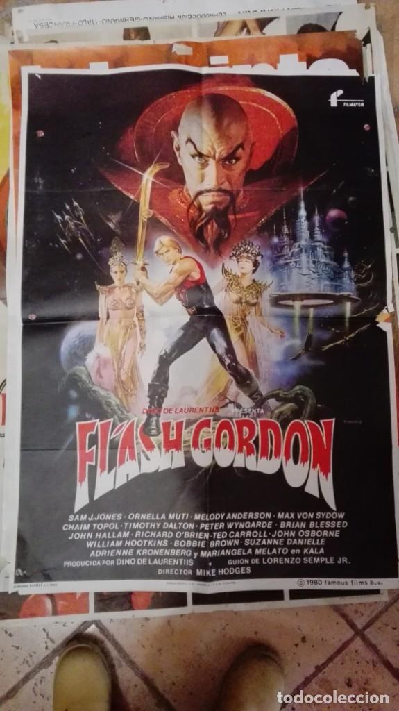 FLASH GORDON - POSTER CARTEL ORIGINAL - SAM L JONES RENATO CASAR (Cine - Posters y Carteles - Ciencia Ficción)