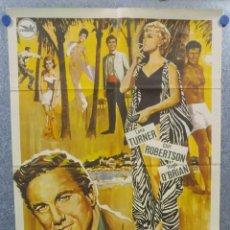 Cine: MIL CARAS TIENE EL AMOR. LANA TURNER, CLIFF ROBERTSON, HUGH O'BRIAN. AÑO 1965. POSTER ORIGINAL. Lote 154329886