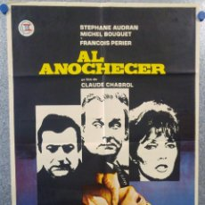 Cine: AL ANOCHECER. HENRI ATTAL, STÉPHANE AUDRAN, MICHEL BOUQUET, CLAUDE CHABROL.AÑO 1971. POSTER ORIGINAL. Lote 154516506