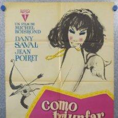 Cine: COMO TRIUNFAR EN AMOR. DANY SAVAL, JEAN POIRET. AÑO 1963. POSTER ORIGINAL. Lote 154517238