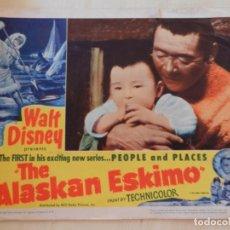 Cine: AFICHE DE CINE. PELÍCULA THE ALASKAN ESKIMO. MEDIDAS 35X28CM.. Lote 154558910