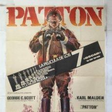 Cine: PATTON - POSTER CARTEL ORIGINAL - GEORGE C SCOTT KARL MALDEN 2ª GUERRA MUNDIAL FRANKLIN J. SCHAFFNER. Lote 154629230