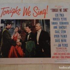 Cine: AFICHE DE CINE. PELÍCULA TONIGHT WE SING!. MEDIDAS 36X28CM. Lote 154727794