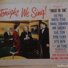 Cine: AFICHE DE CINE. PELÍCULA TONIGHT WE SING!. MEDIDAS 36X28CM. Lote 154727982