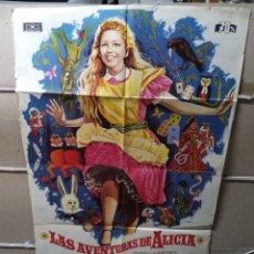 Cine: LAS AVENTURAS DE ALICIA LEWIS CARROLL POSTER ORIGINAL 70X100 YY (2011). Lote 154795398