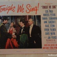 Cine: AFICHE DE CINE. PELÍCULA TONIGHT WE SING!. MEDIDAS 36X28CM. Lote 154808278