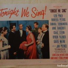 Cine: AFICHE DE CINE. PELÍCULA TONIGHT WE SING!. MEDIDAS 36X28CM. Lote 154808366