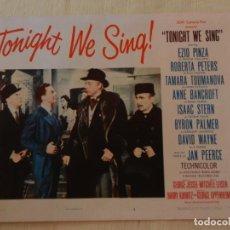 Cine: AFICHE DE CINE. PELÍCULA TONIGHT WE SING!. MEDIDAS 36X28CM. Lote 154808498