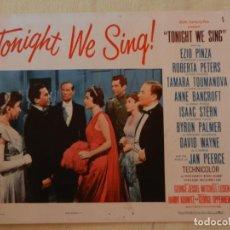 Cine: AFICHE DE CINE. PELÍCULA TONIGHT WE SING!. MEDIDAS 36X28CM. Lote 154808590