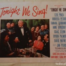 Cine: AFICHE DE CINE. PELÍCULA TONIGHT WE SING!. MEDIDAS 36X28CM. Lote 154808722