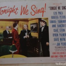 Cine: AFICHE DE CINE. PELÍCULA TONIGHT WE SING!. MEDIDAS 36X28CM. Lote 154809222