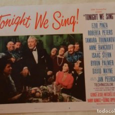 Cine: AFICHE DE CINE. PELÍCULA TONIGHT WE SING!. MEDIDAS 36X28CM. Lote 154809322