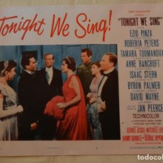 Cine: AFICHE DE CINE. PELÍCULA TONIGHT WE SING!. MEDIDAS 36X28CM. Lote 154809790