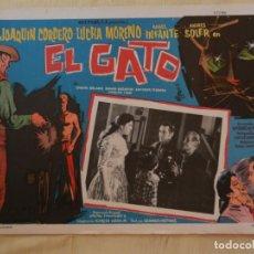 Cine: AFICHE DE CINE. PELÍCULA EL GATO. MEDIDAS 36X28CM. Lote 154816898