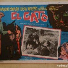 Cine: AFICHE DE CINE. PELÍCULA EL GATO. MEDIDAS 36X28CM. Lote 154817202