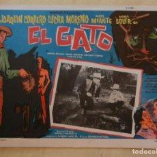 Cine: AFICHE DE CINE. PELÍCULA EL GATO. MEDIDAS 36X28CM. Lote 154817506
