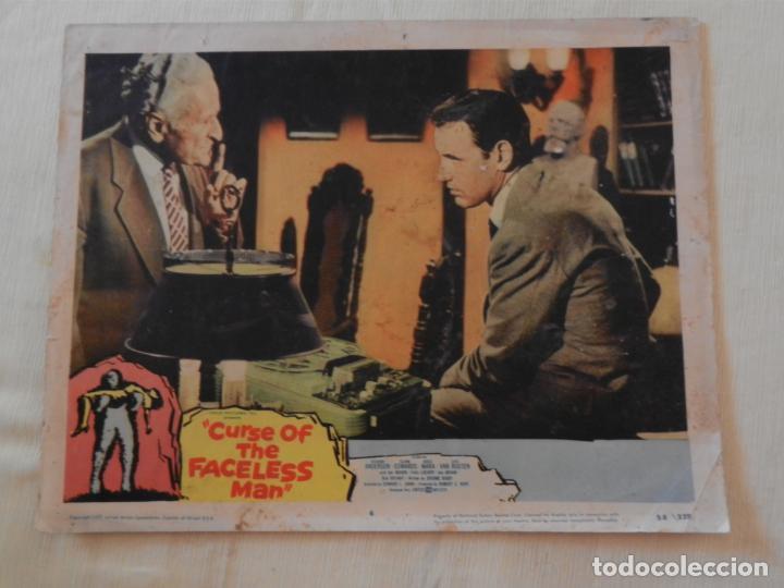 AFICHE DE CINE. PELÍCULA CURSE OF THE FACELESS MAN. MEDIDAS 36X28CM (Cine - Posters y Carteles - Terror)