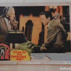 Cine: AFICHE DE CINE. PELÍCULA CURSE OF THE FACELESS MAN. MEDIDAS 36X28CM. Lote 154832858