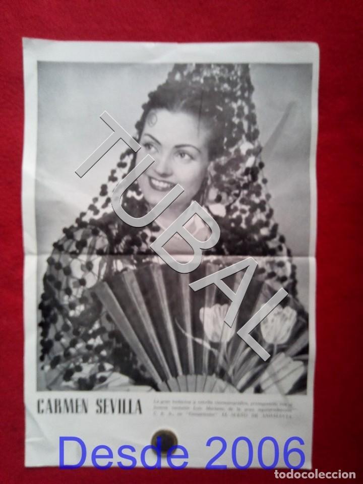 TUBAL CARTEL CARMEN SEVILLA PELICULA EL SUEÑO DE ANDALUCIA UNOS 40 CMS (Cine - Posters y Carteles - Clasico Español)
