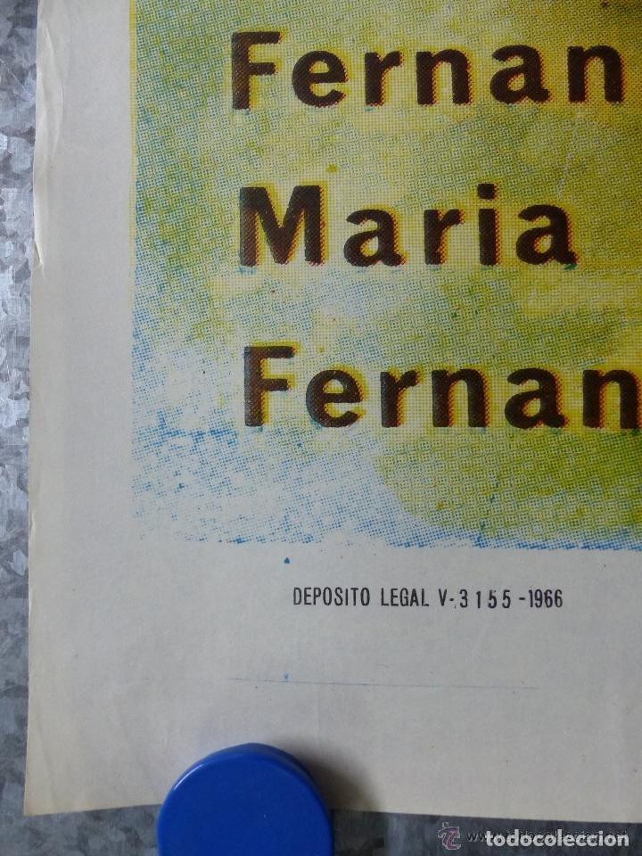 Cine: EMBRUJO - LOLA FLORES, MANOLO CARACOL, OFSSET - AÑO 1966 - ilustrador: GALLARDO ORTEGA - Foto 2 - 188469716