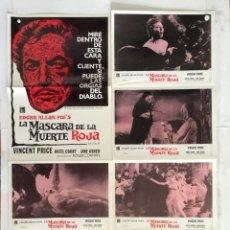 Cine: LA MASCARA DE LA MUERTE ROJA - POE - ROGER CORMAN VINCENT PRICE - COLECCION 6 FOTOCROMOS Y POSTER. Lote 154933202