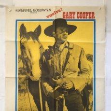 Cine: EL FORASTERO - POSTER CARTEL ORIGINAL - THE WESTERNER DANA ANDREWS GARY COOPER DANA ANDREWS FILMAX. Lote 154972342