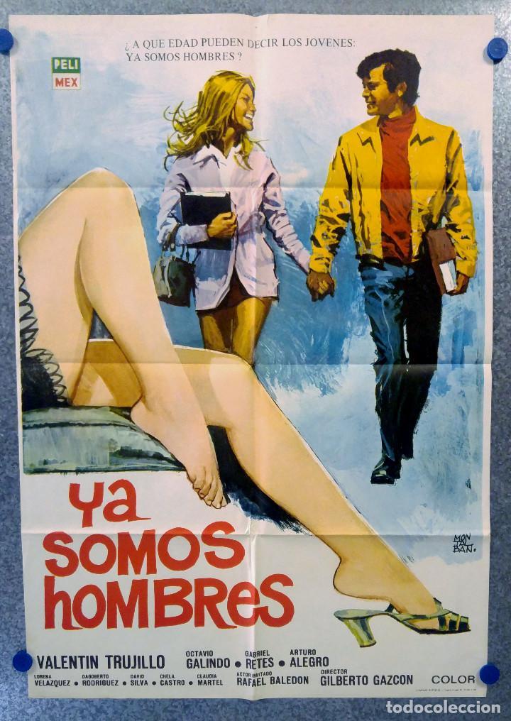 YA SOMOS HOMBRES. VALENTÍN TRUJILLO, OCTAVIO GALINDO. AÑO 1971. POSTER ORIGINAL (Cine- Posters y Carteles - Drama)