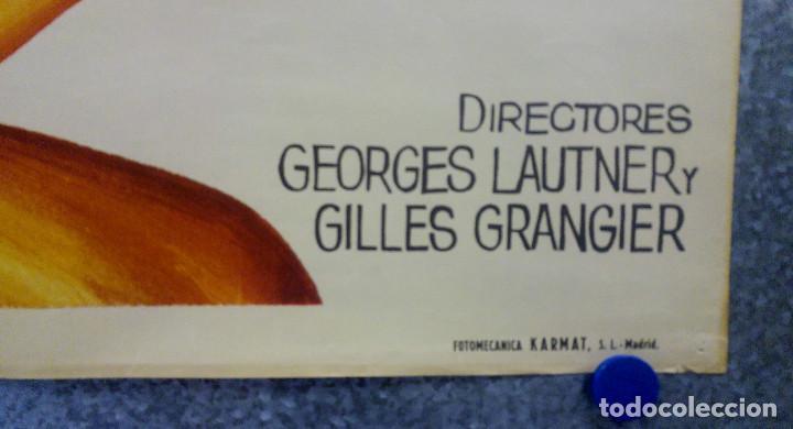 Cine: Alegres vividores. Louis de Funès, Bernard Blier, Mireille Darc. Año 1970. POSTER ORIGINAL - Foto 4 - 194274972