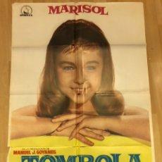 Cine: CARTEL O POSTER DE TOMBOLA.MARISOL.LUIS LICIA.100X70 CM. Lote 155021513