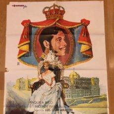 Cine: CARTEL O POSTER DONDE VAS ALFONSO XII PAQUITA RICO VICENTE PARRA.100X70 CM. Lote 155026014