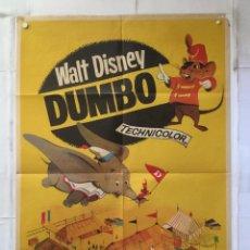 Cine: DUMBO - POSTER CARTEL ORIGINAL - WALT DISNEY ELAFANTE ELEPHANT CIRCO CIRCUS FLORALVA. Lote 155221242