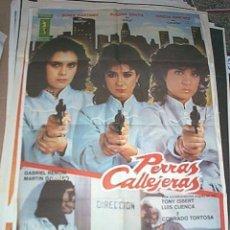 Cine: POSTER ORIGINAL DE CINE 70X100CM PERRAS CALLEJERAS. Lote 243996415