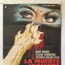 Cinema: LA MUERTE INCIERTA - POSTER CARTEL ORIGINAL ESTRENO - JOSE RAMON LARRAZ MAC YELENA SAMARINA . Lote 155297662
