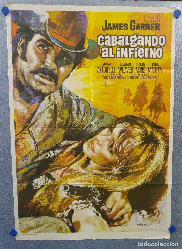CABALGANDO AL INFIERNO. JAMES GARNER, DENNIS WEAVER, CLAUDE AKINSAÑO 1971. POSTER ORIGINAL (Cine - Posters y Carteles - Westerns)
