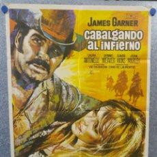 Cine: CABALGANDO AL INFIERNO. JAMES GARNER, DENNIS WEAVER, CLAUDE AKINSAÑO 1971. POSTER ORIGINAL. Lote 155337782