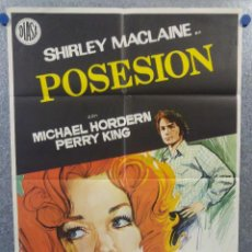 Cine: POSESION. SHIRLEY MACLAINE, MICHAEL HORDERN. AÑO 1973. POSTER ORIGINAL. Lote 155338238