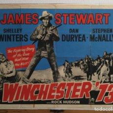 Cine: WINCHESTER 73 WESTERN - POSTER INGLES ORIGINAL JAMES STEWART ROCK HUDSON ANTHONY MANN . Lote 155356190