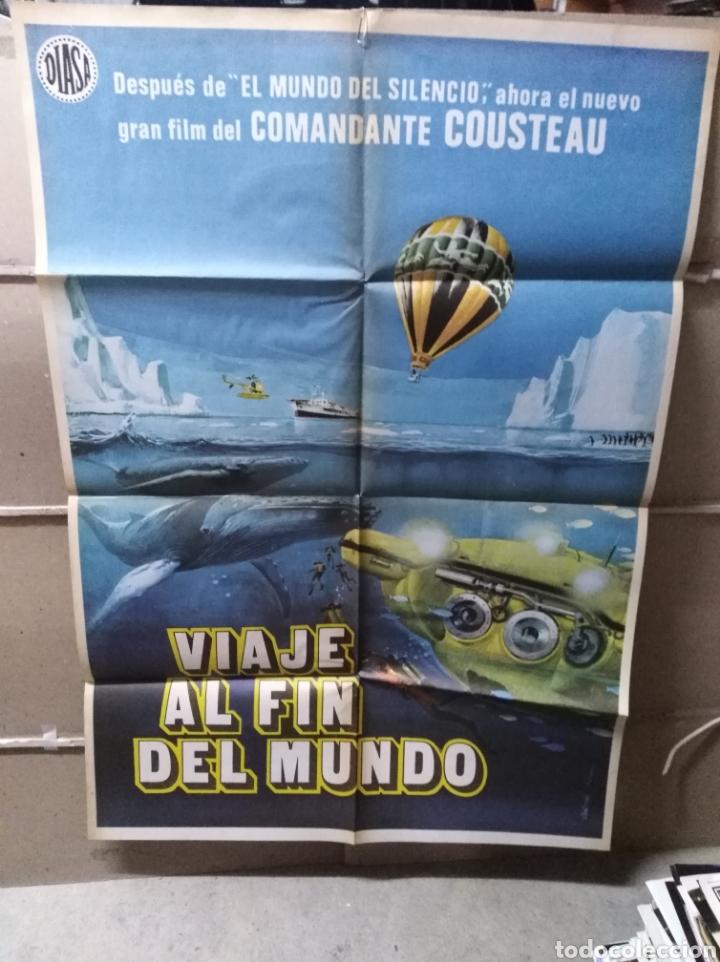 VIAJE AL FIN DEL MUNDO JACQUES COUSTEAU POSTER ORIGINAL 70X100 (Cine - Posters y Carteles - Documentales)