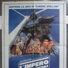 Cine: ZK10 EL IMPERIO CONTRAATACA LA GUERRA DE LAS GALAXIAS STAR WARS POSTER ORIGINAL 100X140 ITALIANO. Lote 155775366