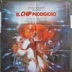 Cine: ZJ98 EL CHIP PRODIGIOSO JOE DANTE DENNIS QUAID MEG RYAN POSTER ORIGINAL 70X100 ESTRENO. Lote 155787346
