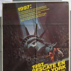 Cine: ZJ97 1997 RESCATE EN NUEVA YORK JOHN CARPENTER KURT RUSSELL POSTER ORIGINAL 70X100 ESTRENO. Lote 155787646