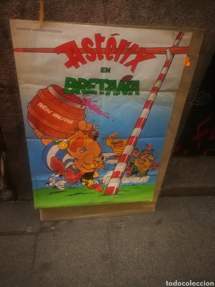 CARTEL DE CINE ORIGINAL ASTERIX EN BRETAÑA 1986 1X70 (Cine - Posters y Carteles - Infantil)