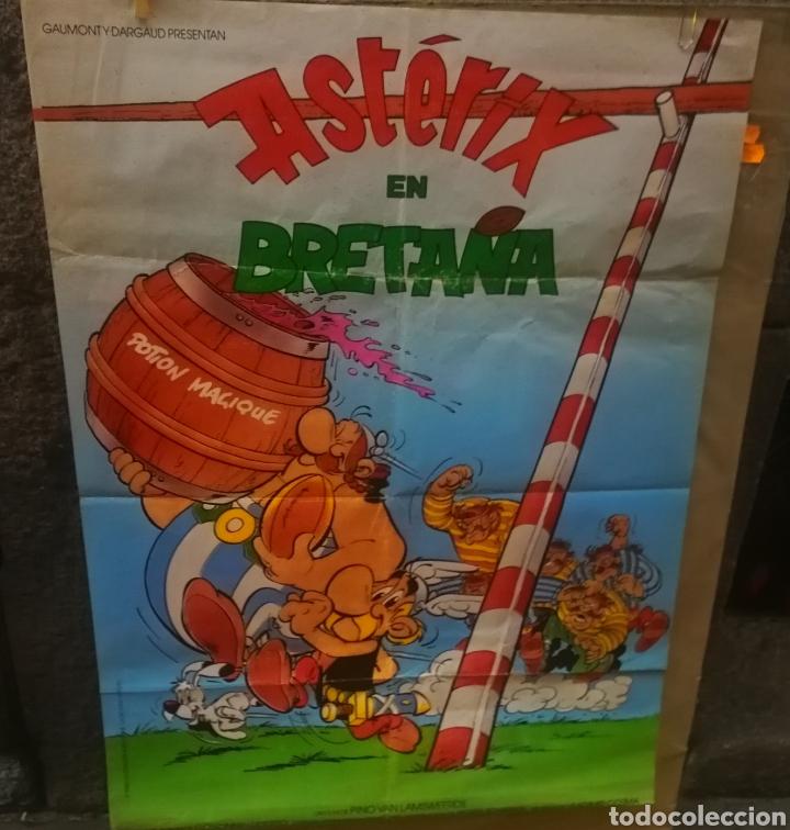 Cine: Cartel de cine original Asterix en Bretaña 1986 1x70 - Foto 2 - 155839394