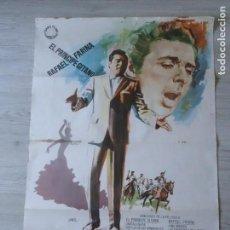 Cine: CARTEL EL MILAGRO DEL CANTE 70 X 100 CM APROX (ORIGINAL) - RAFAEL FARINA - PRINCIPE GITANO. Lote 155937166