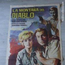Cine: CARTEL LA MONTAÑA DEL DIABLO 70 X 100 CM APROX (ORIGINAL) -. Lote 155937422
