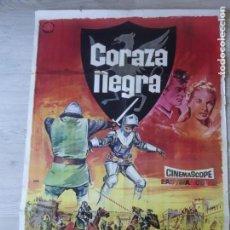 Cine: CARTEL CORAZA NEGRA - ORIGINAL - 70 X 100 CM APROX. Lote 155940634