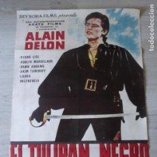 Cine: CARTEL EL TULIPÁN NEGRO - ORIGINAL - 70 X 100 APROX - ALAIN DELON. Lote 155938830