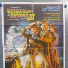 Cine: REGRESO AL FUTURO III. MICHAEL J. FOX. AÑO 1990. POSTER ORIGINAL.. Lote 155960034